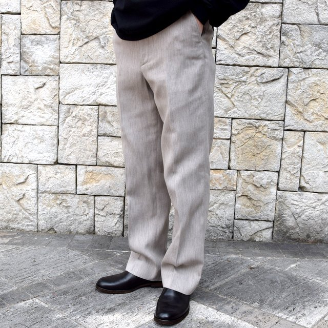 【2020 SS】AURALEE(オーラリー)/ COTTON WOOL DOUBLE CLOTH SLACKS -TOP GRAY- #A20SP02WF(2)