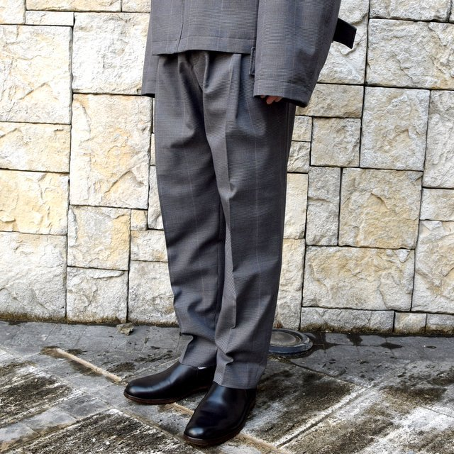 【2020 SS】stein(シュタイン)/ WIDE TAPERED TROUSERS -GLEN CHECK- #ST128-2(2)