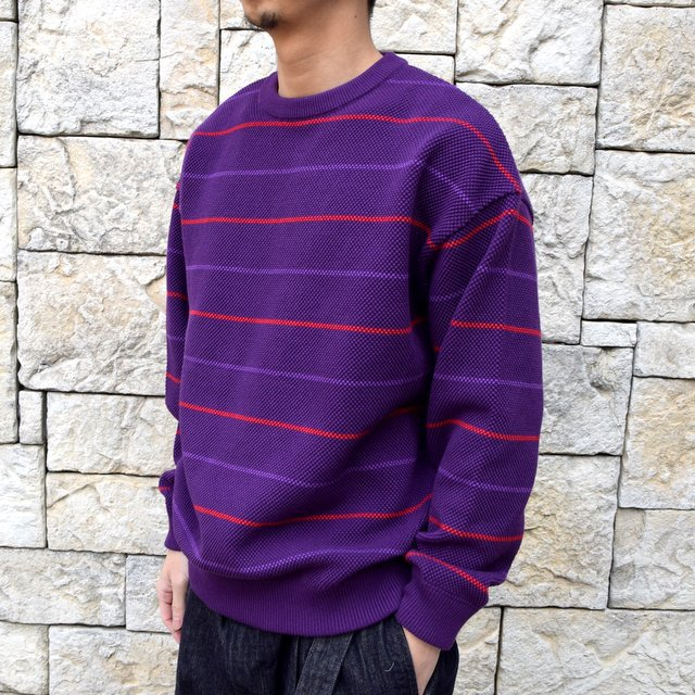【2020 SS】crepuscule(クレプスキュール)/BORDER LONG SLEEVE TEE -PURPLE- #2001-001-PU(2)