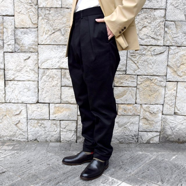 【2020 SS】NEAT(ニート)/ COTTON PIQUE ''TAPERED'' -BLACK- #20-01CPT(2)