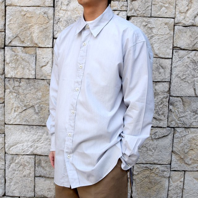 【2020】MAATEE&SONS(マーティーアンドサンズ)/REGULAR COLLAR SHIRT -GRAY- #MT0103-0601A(2)