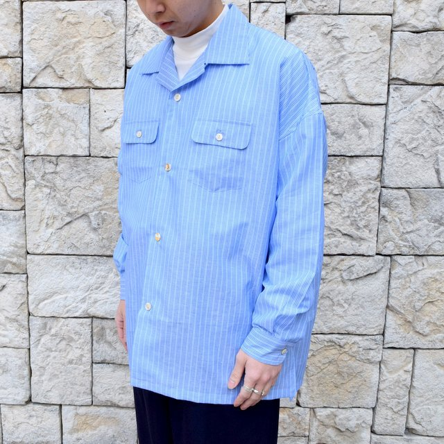 【30% off sale】【2020】MAATEE&SONS(マーティーアンドサンズ)/ ''DAVID&JOHN ANERSON'' OPEN COLLAR SHIRT -2色展開- #MT0103-0607A(2)