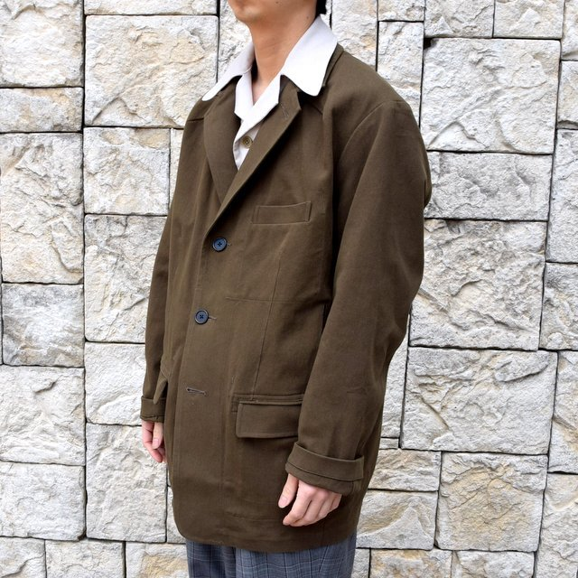 【2020 SS】HOMELESS TAILOR(ホームレステイラー)/ STEAL PK JACKET -KHAKI- #HTKS-002(2)