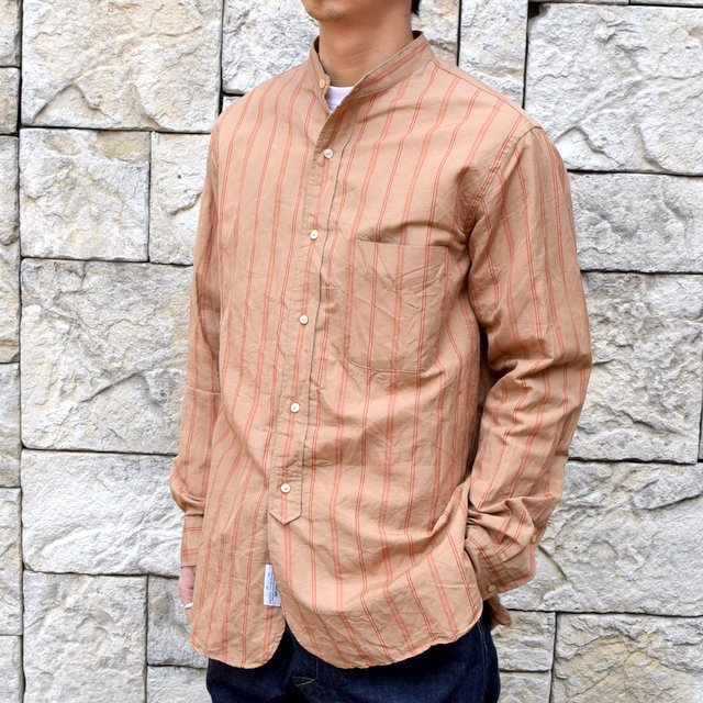 【2020】 A VONTADE(ア ボンタージ)/ BANDED COLLAR SHIRTS -BROWN STRIPE- #VTD-0312-SH(2)
