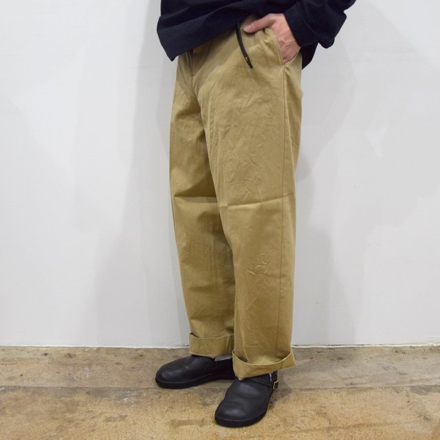 【2020】YAECA (ヤエカ)/ CHINO CLOTH PANTS CREASED -KHAKI- #10605(2)