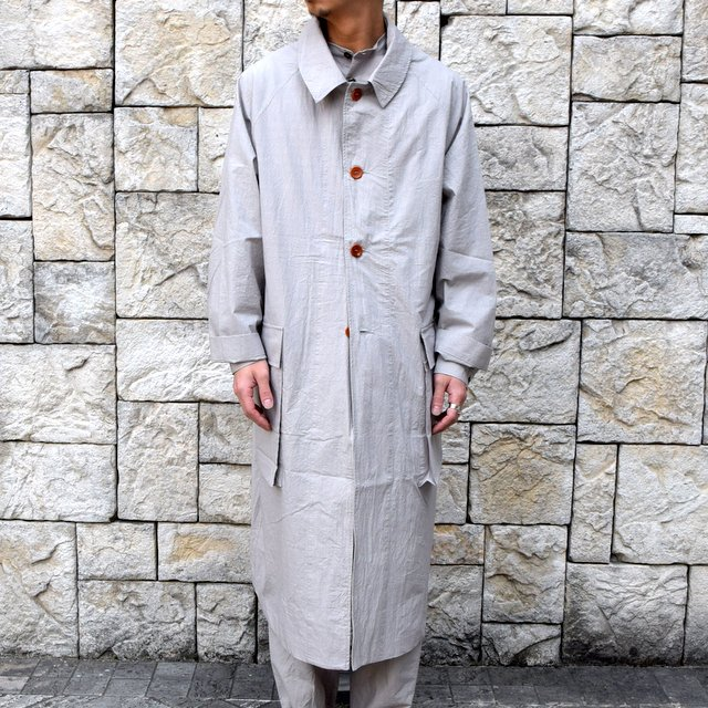 【30% off sale】【2020】FRANK LEDER(フランクリーダー)/ TRIPLE WASHED THIN COTTON COAT -GREY- #0911081-95(2)