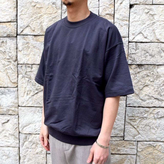 【2020】AURALEE(オーラリー)/ SUPER HIGH GAUGE SWEAT BIG TEE -INK BLACK- #A20SP02NU(2)