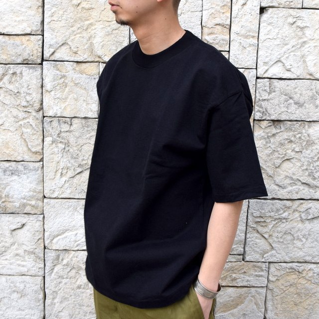 【2020 SS】AURALEE(オーラリー)/ STAND UP TEE -BLACK- #A20ST01SU(2)