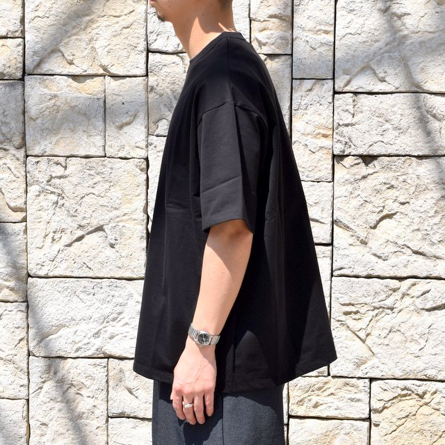 【2020】Graphpaper (グラフペーパー)/ Jersey S/S Tee -BLACK- #GM201-70148B(2)