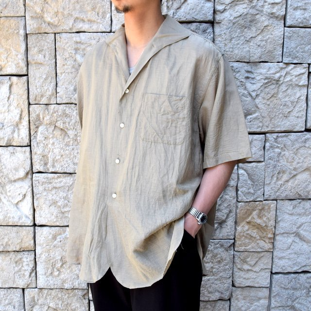 【30% off sale】【2020】KAPTAIN SUNSHINE (キャプテンサンシャイン)/ RIVIERA S/S SHIRT -KHAKI- #KS20SSH04(2)