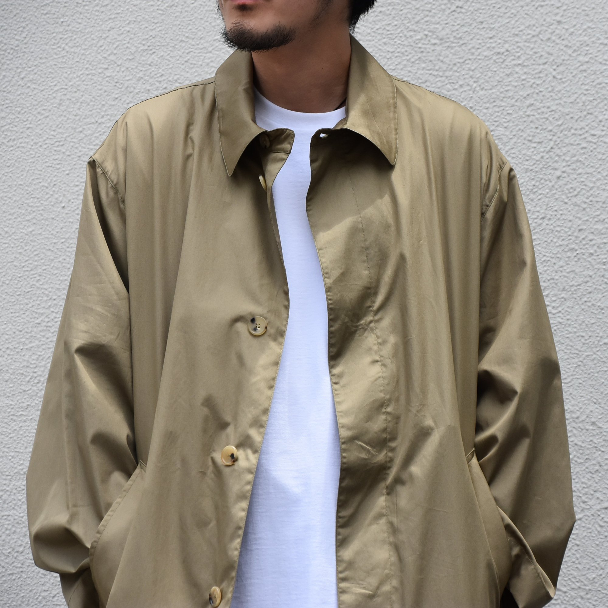 【2020】 Cristaseya(クリスタセヤ)/ OVERSIZED LIGHT COTTON SUMMER TRENCH -Light khaki- #01DA-C-LK(2)