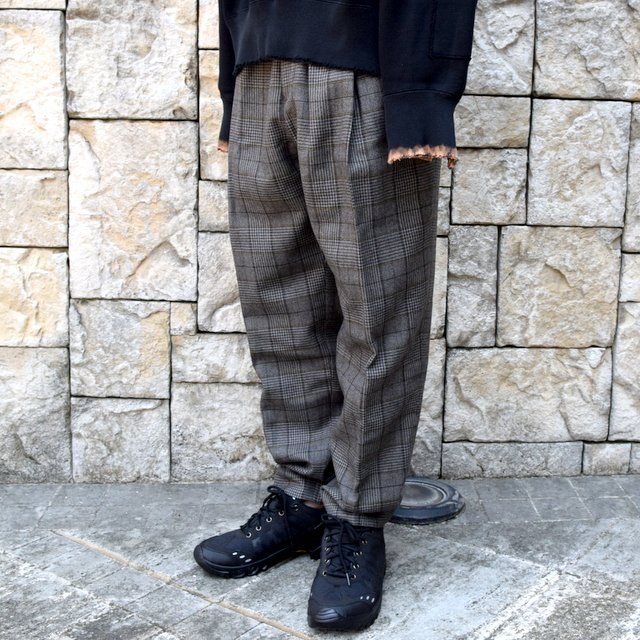 【2020】stein(シュタイン)/ WIDE TAPERED TROUSERS -GLEN CHECK- #ST178-2(2)