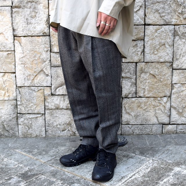 【2020】stein(シュタイン)/ WIDE TAPERED TROUSERS -HERRINGBONE- #ST178-2(2)