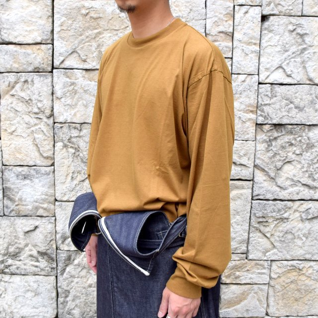 【2020】blurhms ROOTSTOCK(ブラームス) / SILK COTTON JERSEY L/S LOOSE FIT -CAMEL- #ROOTS-F206(2)