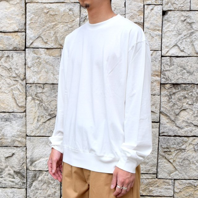 【2020】blurhms ROOTSTOCK(ブラームス) / SILK COTTON JERSEY L/S LOOSE FIT -OFF- #ROOTS-F206(2)