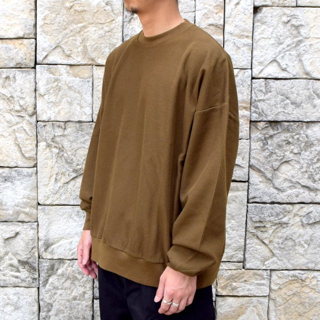 blurhms ROOTSTOCK(ブラームス) / Rough & Smooth Thermal -KHAKI BROWN-(2)