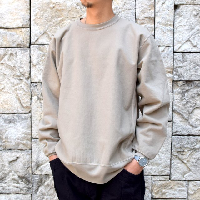 AURALEE(オーラリー) SUPER MILLED SWEAT P/O -KHAKI GRAY- A20AP02SM(2)