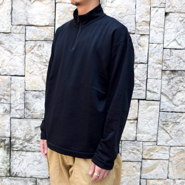 AURALEE(オーラリー)/ ELASTIC HIGH GAUGE SWEAT HALF ZIP P/O -BLACK- #A20AP01NU(2)