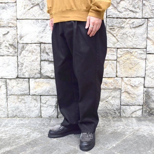 【2020】blurhms(ブラームス)/ SUPER SURGE WIDE SLACKS -BLACK- #BHS20F002(2)