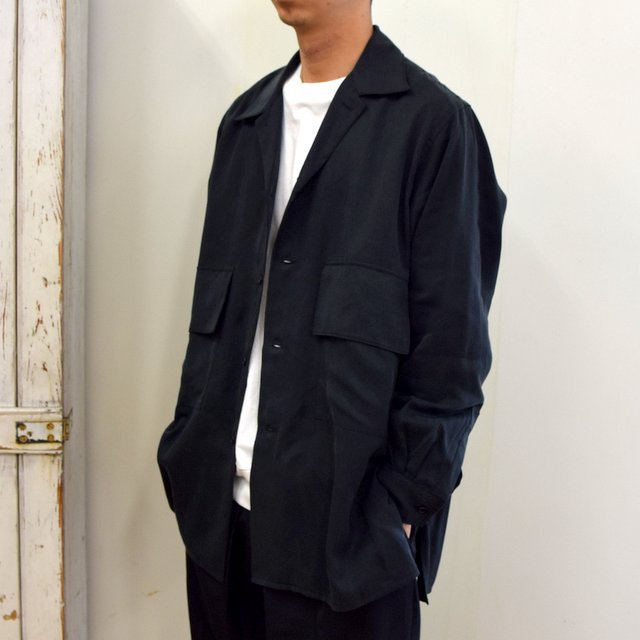 【2020】YOKE(ヨーク)/ BIG FLAP LONG SHIRTS -BLACK- #YK20AW0144SH(2)