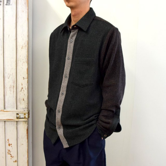 【2020】FRANK LEDER(フランクリーダー)/ VINTAGE FABRIC EDITION SHIRT -GREEN- #0126070(2)