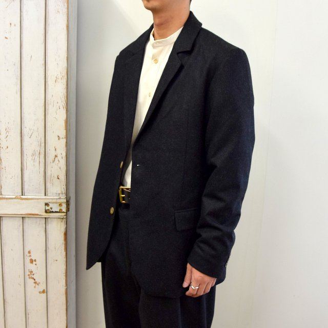 【2020】FRANK LEDER(フランクリーダー)/ LIGHT WEIGHT LODEN WOOL 2B JACKET -BLACK- #0122022(2)