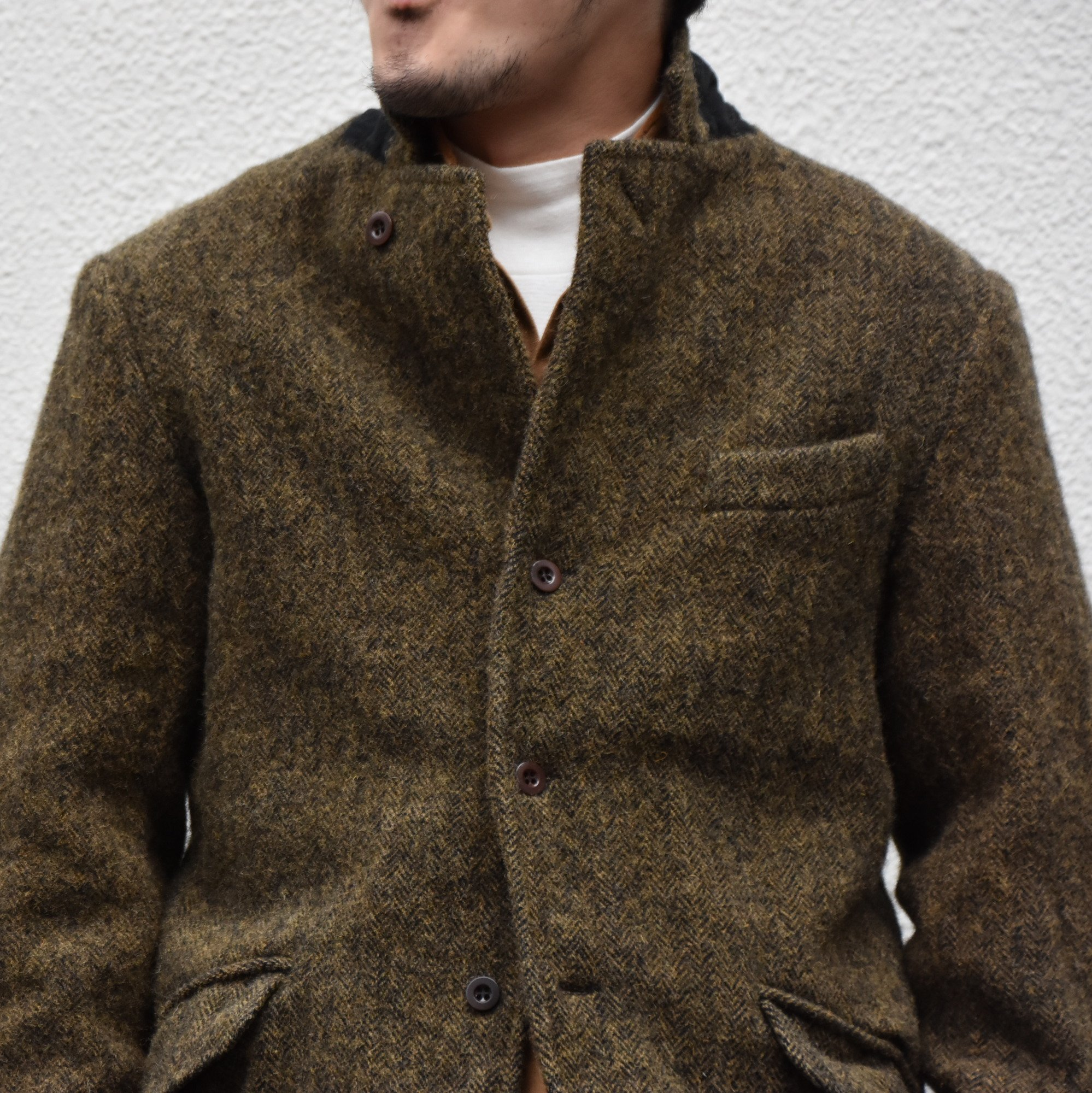 【2020】Chez Vidalenc (シェヴィダレンク)/ HARRIS TWEED JACKET-GREEN FOX- #JK01(2)