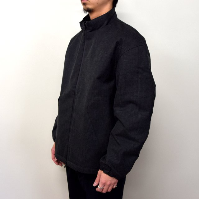 DESCENTE PAUSE(デサント ポーズ)/ WOOL MIX STAND COLLAR ZIP UP BLOUSON -GRBK- #DLMQJC33(2)
