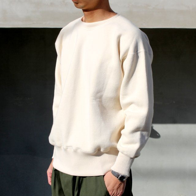 OLDE HOMESTEADER(オールドホームステッダー)/ CREW NECK LONG SLEEVE -ECRU- #EQP001(2)