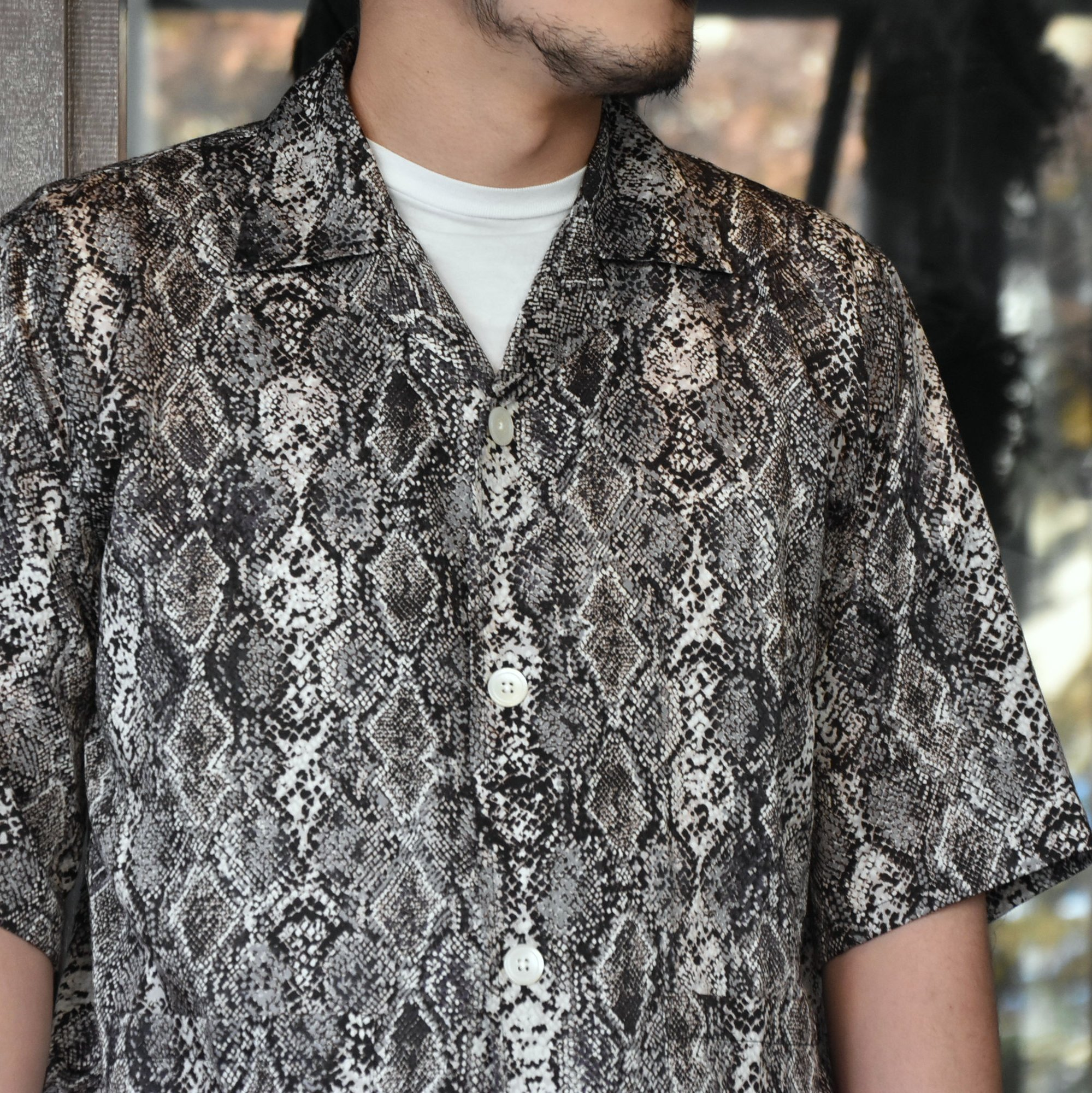 [2021]NEEDLES(ニードルス) CABANA SHIRT PYTHON PT -BLACK- #IN169(2)