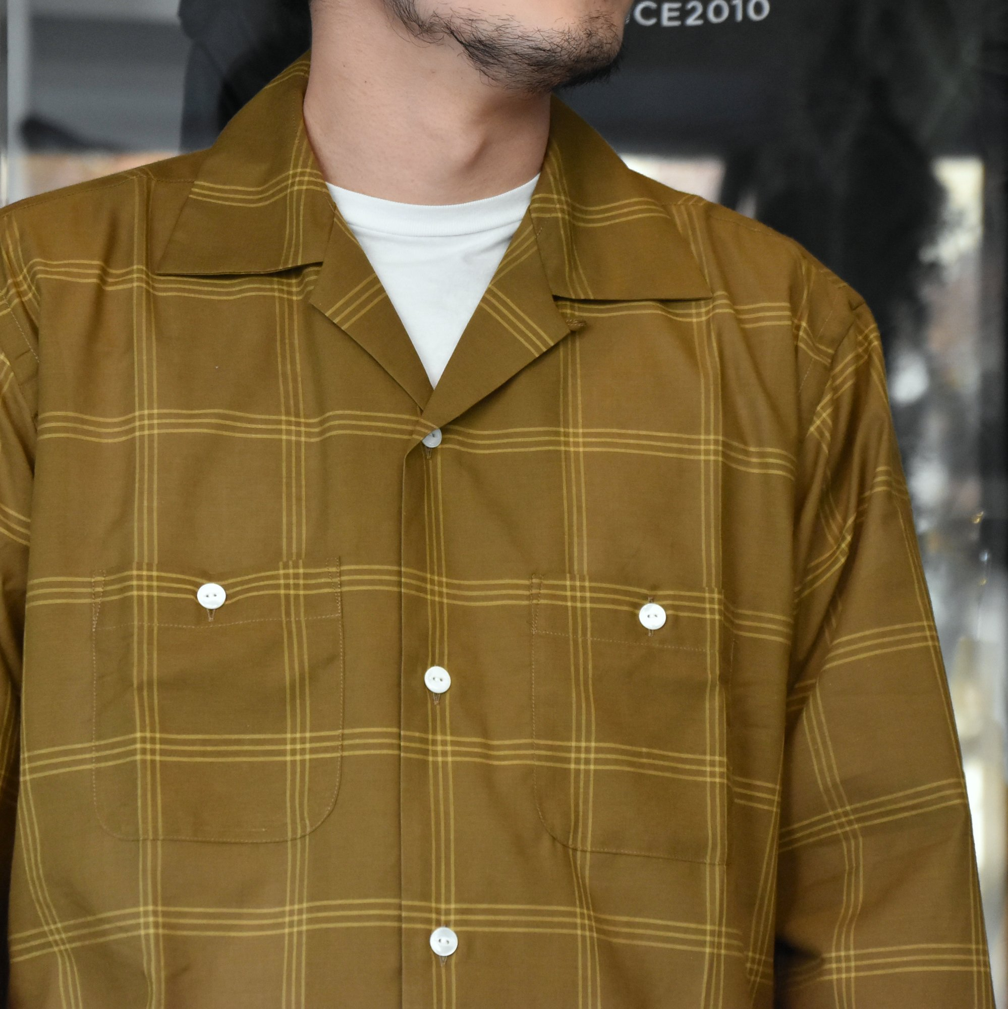 [2021]NEEDLES(ニードルス) C.O.B. ONE-UP SHIRT C/S PLAID -BROWN-#IN170(2)
