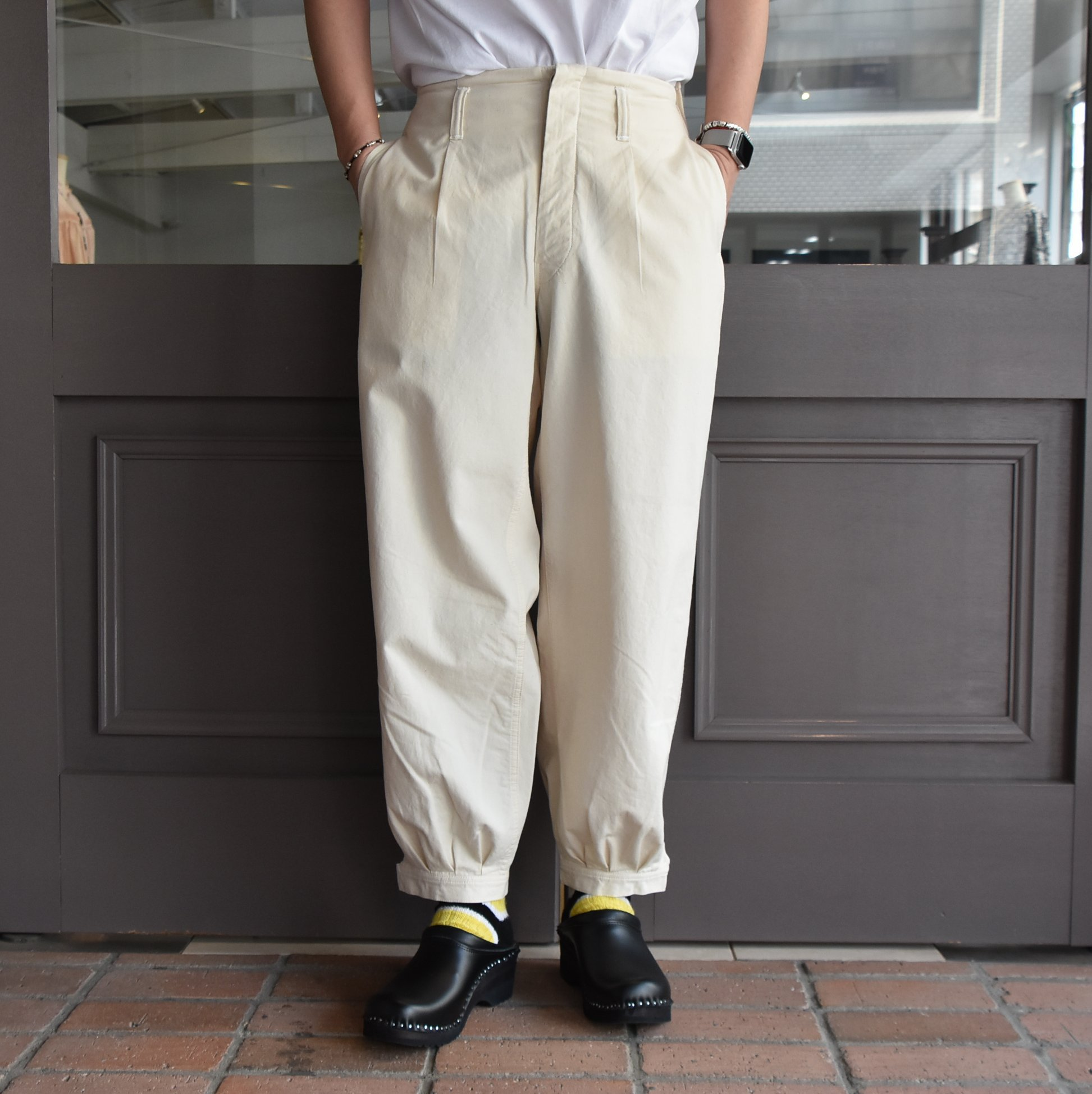 [2021]amachi.(アマチ) DetachablePocket Work Pants-Off White- #AY8-22(2)