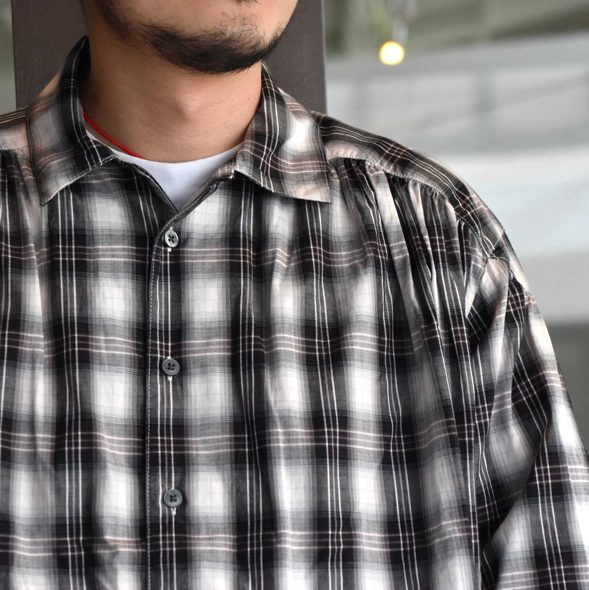 [2021] AiE(エーアイイー)/PAINTER SHIRT-SHADOW PLAID- #IN530(2)