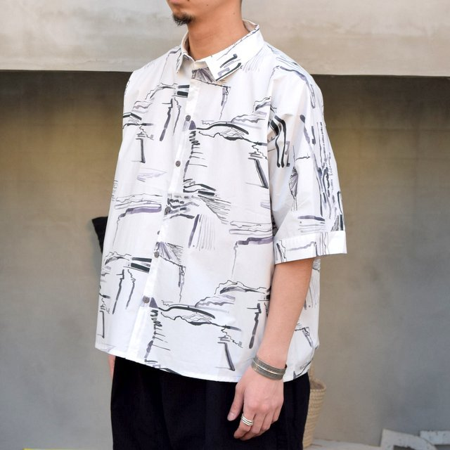 toogood(トゥーグッド)/ THE GARDENER SHIRT SHORT PRINTED POPLIN -PLOUGHED FIELDS-(2)