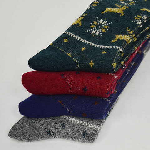 【30% off sale】White Mountaineering(ホワイトマウンテニアリング) Reindeer Pattern Middle Socks(3)