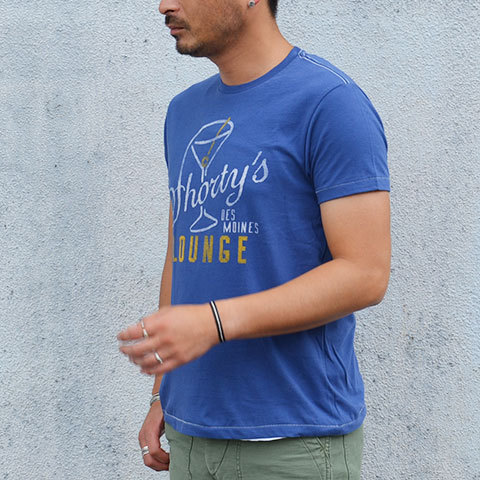 【30% off sale】Speakeasy(スピークイージー) T-shirt -WASHED ROYAL- (3)