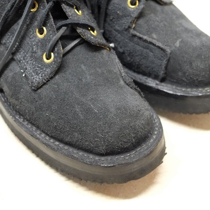 GRIZZLY BOOTS(グリズリー ブーツ) Lineman Oxford -BLACK ROUGH OUT-【別注】(3)