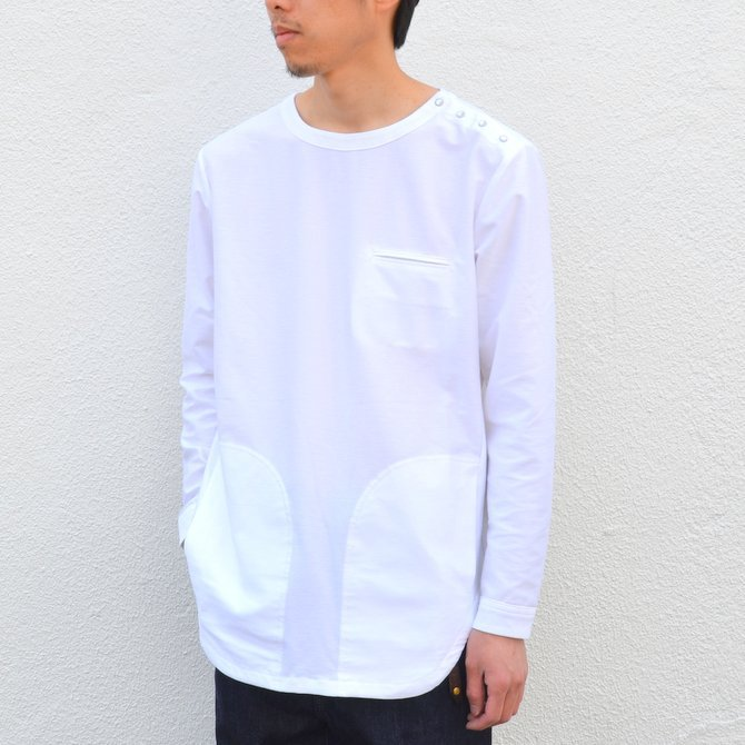 【30% OFF SALE】【17 SS】Curly(カーリー) HIGH GAUGE TWILL JERSEY -WHITE- #171-31032SD(3)