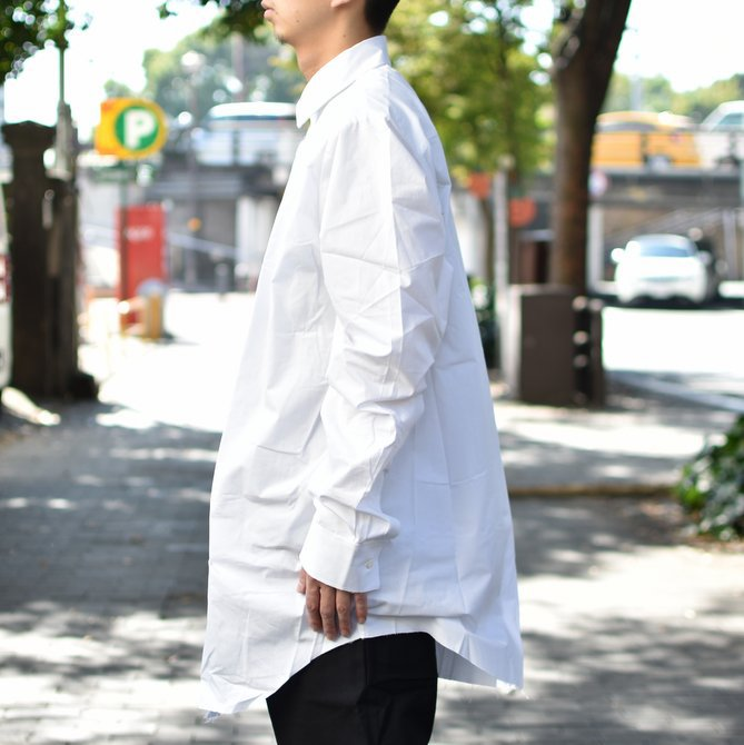 【2018 AW】 CAMIEL FORTGENS(カミエル フォートゲンス)/LONG SHIRT SHIRTING -WHITE- #CAMIEL-634(3)