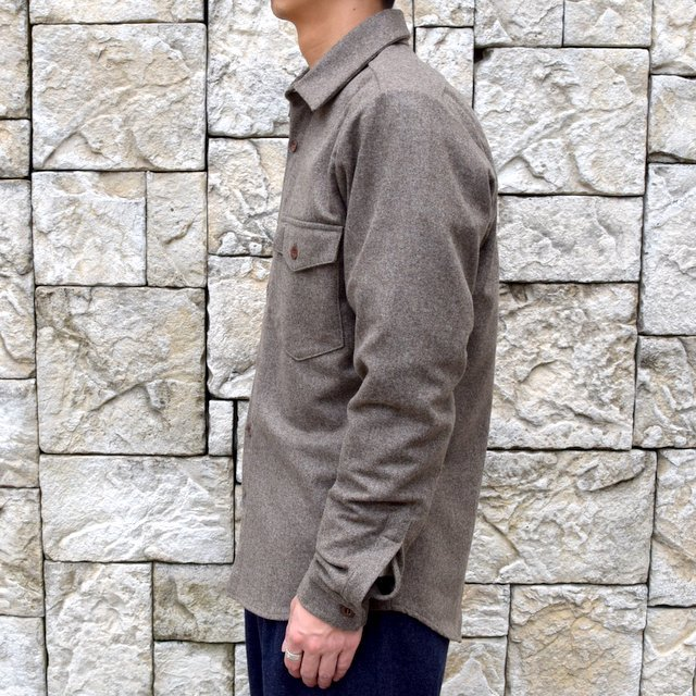 【30% off sale】FRANK LEDER(フランクリーダー) /LODEN WOOL FLAP POCKET SHIRT 0726031-GR(3)