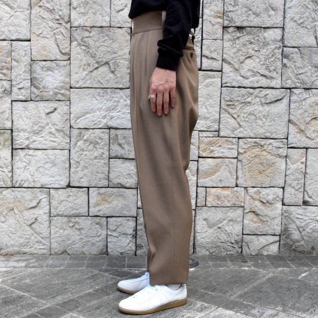 【2019 AW】NEAT(ニート)/ WOOL HIGHT DENSITY GABARDINE BELTLESS -CAMEL-#19-02WGB(3)