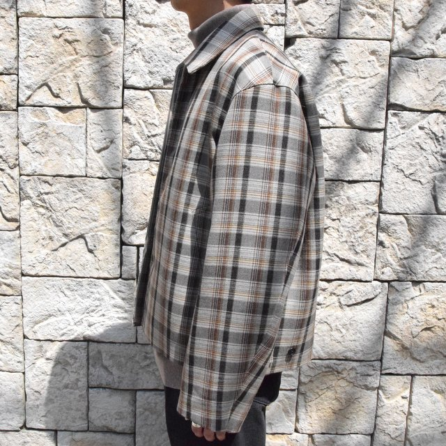 【30% off sale】【19 AW】 AURALEE(オーラリー)/DOUBLE FACE CHECK ZIP BLOUSON -BROWN CHECK-#A9AB02BN-BR(3)