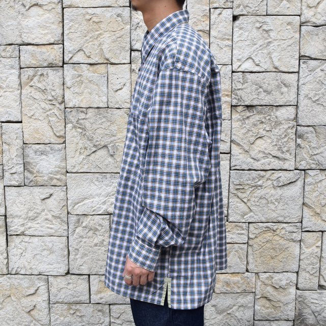 Marvine Pontiak Shirt Makers(マーヴィンポンティアックシャツメーカーズ)/TWO TONE L/S Shirt -GREEN CHECK- #MPSM-1913S(3)