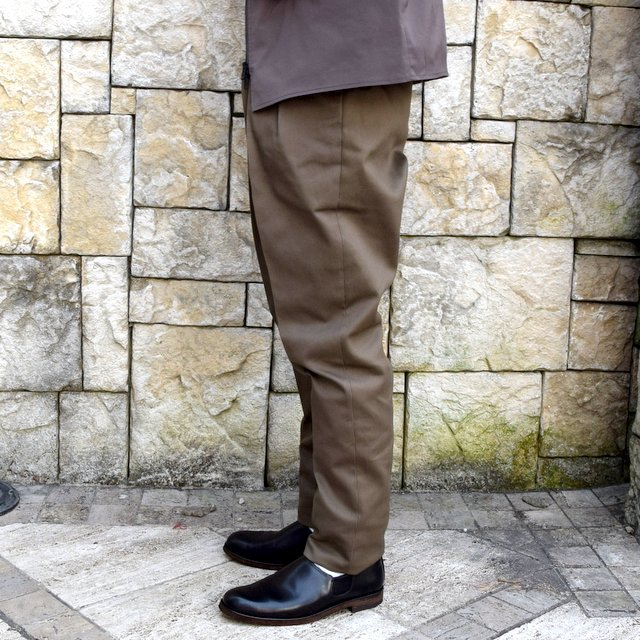 【2020 SS】NEAT(ニート)/ COTTON PIQUE ''TAPERED'' -KHAKI- #20-01CPT(3)