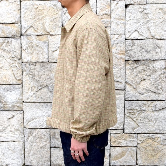 【2020 SS】 AURALEE(オーラリー)/ HARD TWIST WOOL DOUBLE FACE CHECK BLOUZON -BEIGE CHECK- #A20SB01WC(3)