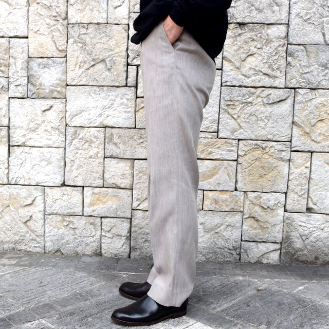 【2020 SS】AURALEE(オーラリー)/ COTTON WOOL DOUBLE CLOTH SLACKS -TOP GRAY- #A20SP02WF(3)