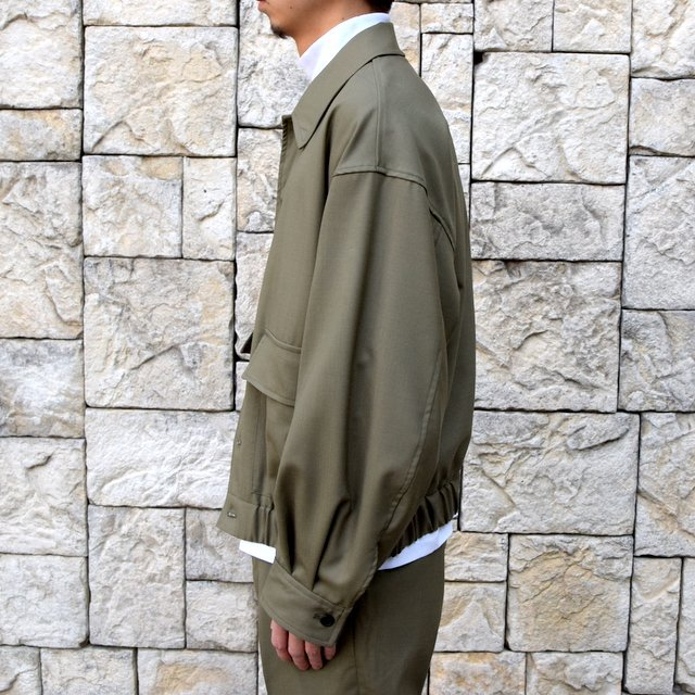 【2020 SS 】MARKAWARE(マーカウェア)/FLIGHT JACKET ORGANIC WOOL TROPICAL -OLIVE KHAKI- #A20A-04BL01C(3)