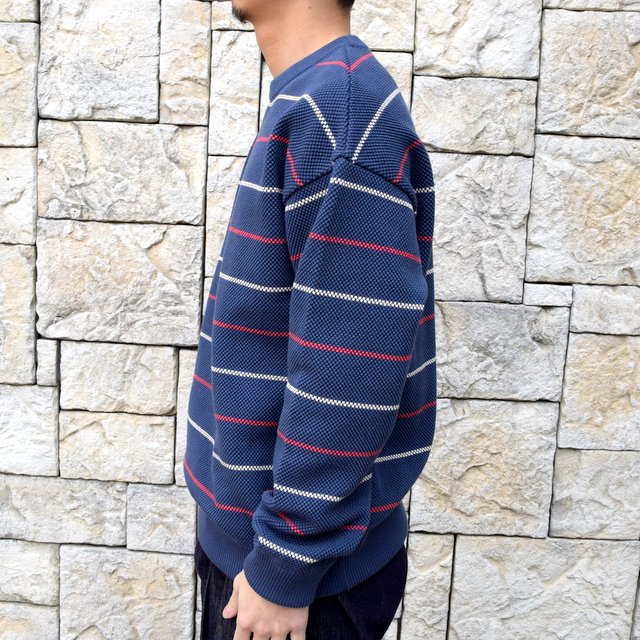 【2020 SS】crepuscule(クレプスキュール)/BORDER LONG SLEEVE TEE -NAVY- #2001-001-NV(3)