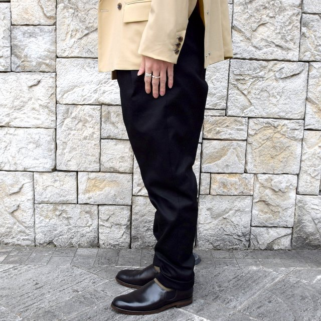 【2020 SS】NEAT(ニート)/ COTTON PIQUE ''TAPERED'' -BLACK- #20-01CPT(3)
