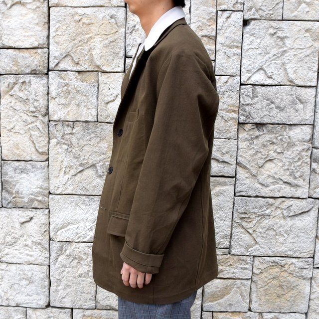 【2020 SS】HOMELESS TAILOR(ホームレステイラー)/ STEAL PK JACKET -KHAKI- #HTKS-002(3)